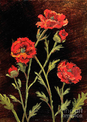 Painting - Orange Poppies by Vic  Mastis
