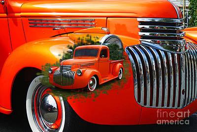 Orange Pu Dbl. Exposure Art Print by Randy Harris