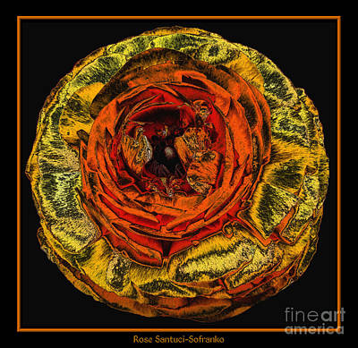 Wilderness Camping - Orange Ranunculus with a Chrome Effect by Rose Santuci-Sofranko