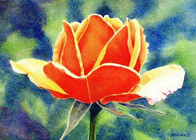 Painting - Orange Rose by Debra Spinks