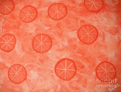 Orange Slices Original by Jeannie Atwater Jordan Allen