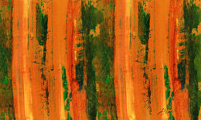 Painting - Orange Stripe by Ann Powell