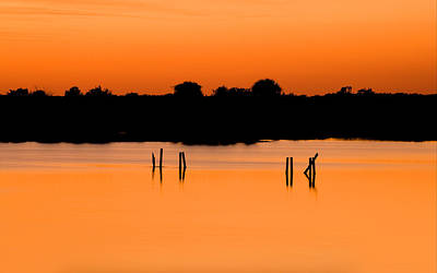 Photograph - Orange Sunset Florida by Rich Franco