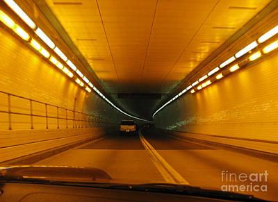 Orange Tunnel In Dc Art Print by Ausra Huntington nee Paulauskaite
