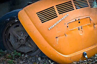 Photograph - Orange Vw Bug by Carolyn Marshall