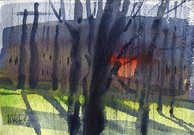 Orange Window Original by Donald Maier