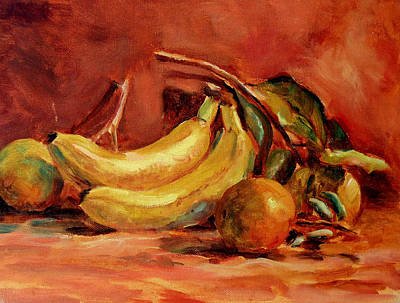 Stil Life Painting - Oranges And Bananas by Mark Hartung