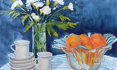 Oranges And Blue Original by Pat Slavek