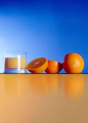 Oranges And Orange Juice Print by Victor Habbick Visions