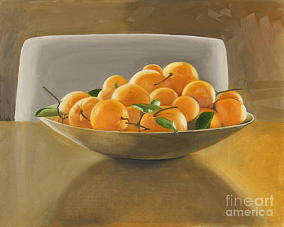 Top With Oil Painting - Oranges by Melissa Burke