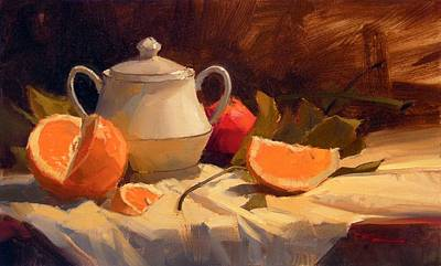 Richard Robinson Painting - Oranges by Richard Robinson