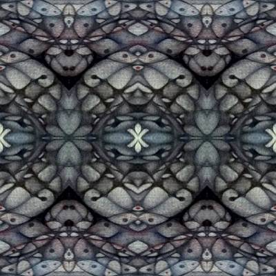 Didgital Art Drawing - Oranic Symetry  by Jack Dillhunt