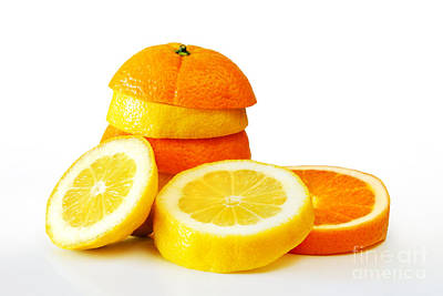 Oranje Lemon Art Print