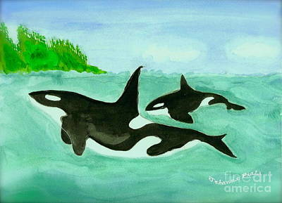 Painting - Orca by Johanne Peale