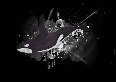 Orca Art Print by Stephane Le Blan