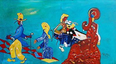 Violine Painting - Orchestra by Milan Nikolcin