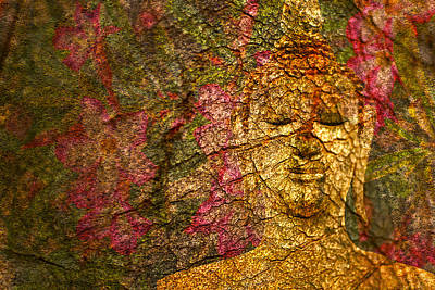 Thai Mixed Media - Orchid Buddha by Rob Tullis