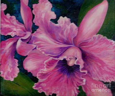 Painting - Orchid Cattleya by Edoen Kang