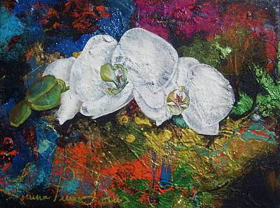 Painting - Orchid Mini by Laura Pierre-Louis