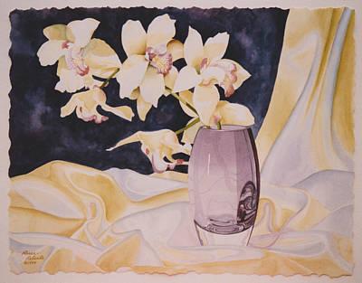 Orchid Sunlight Art Print by Eve Riser Roberts