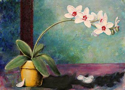 Orchids 1 Print by Ann Sokolovich