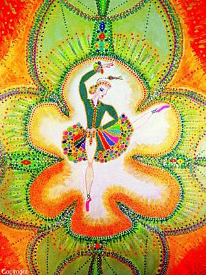 Orchid's Ballerina Art Print