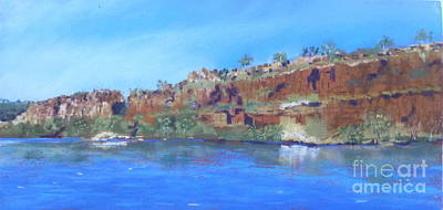 Ord River Afteroon Cruise Print by Nadine Kelly