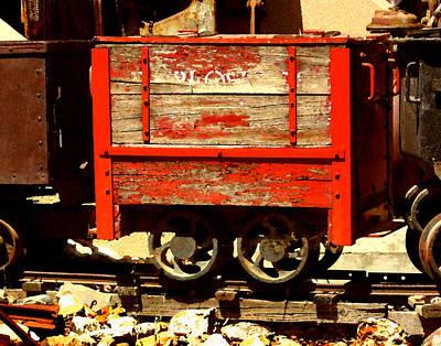 Digital Art - Ore Carts by Timothy Bulone