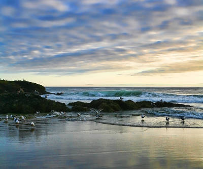 Oregon Coast At Dusk Art Print by Bonnie Bruno