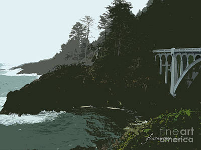 Art Print featuring the photograph Oregon Coast Ben Jones Bridge by Glenna McRae