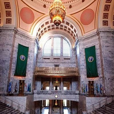 Decorative Photograph - Oregon State Capitol by Michael Lynch