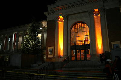 Photograph - Oregon State Orange Lights At Memorial Union by Oregon State University