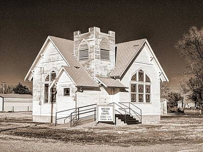 Photograph - Oregon Trail Chapel by HW Kateley