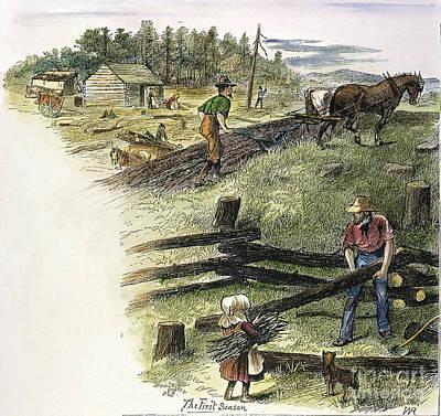 Horse-drawn Plow Photograph - Oregon Trail Emigrants by Granger