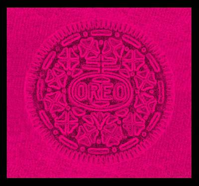 State Word Art - OREO in HOT PINK by Rob Hans