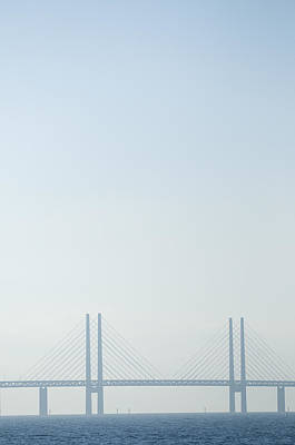 Malmo Photograph - Oresund Bridge Connecting Copenhagen, Denmark With Malmo, Sweden by Rune Johansen