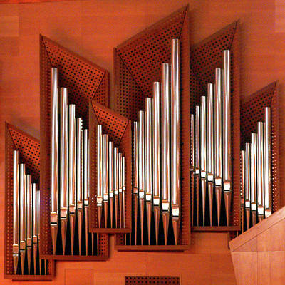 Organ Pipes Photograph - Organ Of Bilbao Jauregia Euskalduna Auditorium by Juanluisgx