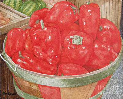 Organic Red Peppers Original by Jim Soldo