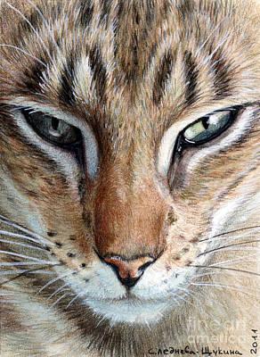 Chatting Mixed Media - Oriental Cat by Svetlana Ledneva-Schukina