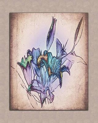 Oriental Lily Still Life Art Print by Jill Balsam