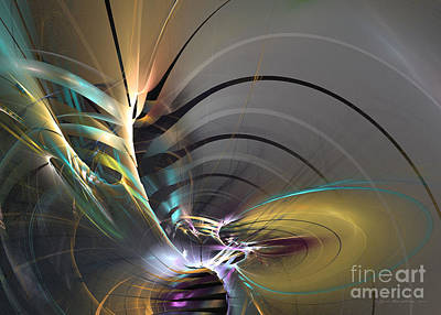 Digital Art - Oriental Mood - Abstract Art by Sipo Liimatainen