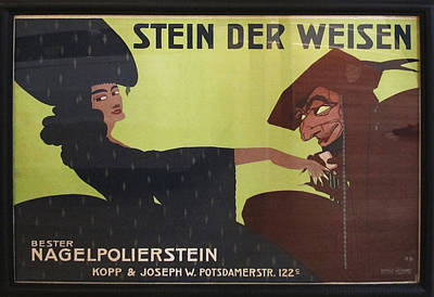 Original 1911 German Ad For Nail Buffing Stones - Stein Der Weisen - Framed Original