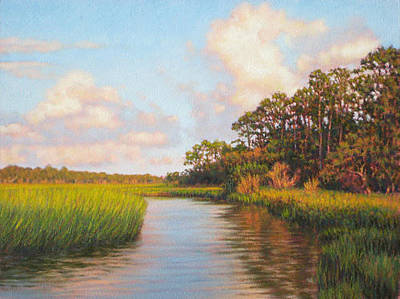 Painting - Original  Afternoon On Jekyll Island by Michael Story