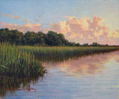 Painting - Original Cloud Mass Over Savannah by Michael Story
