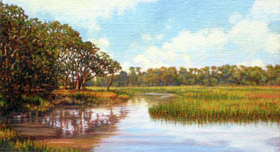 Painting - Original Creek Expanse by Michael Story