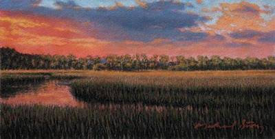 Painting - Original Distant Hues by Michael Story