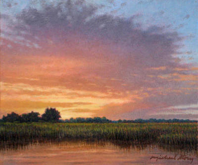 Painting - Original Floodplain At Sunset by Michael Story