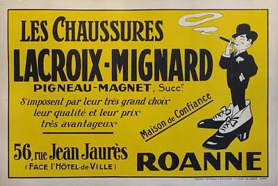 Original French Shoes Poster Lacroix Migniard C 1910 Original