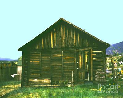 Photograph - Original Miners Cabin  Frisco Colorado by Merton Allen