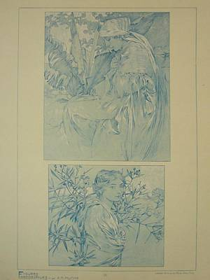 Original Print 1902 Mucha Document Du Decorateur 34 Original by Mucha Alfonse